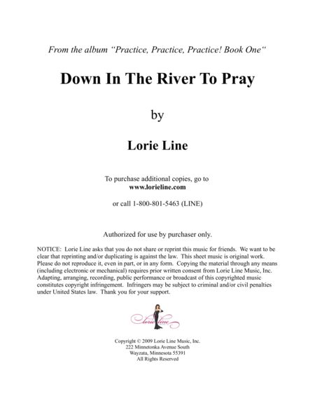 Down In The River To Pray - EASY!
