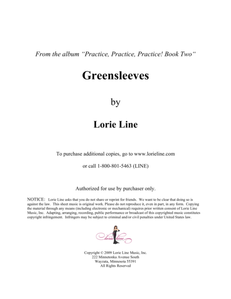 Greensleeves - EASY!