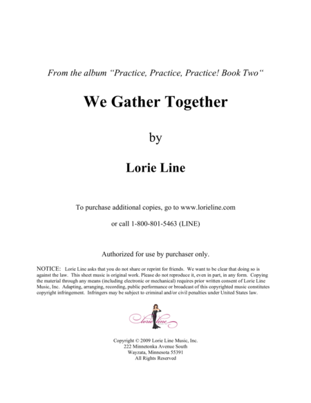 We Gather Together - EASY!