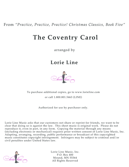 Coventry Carol - EASY!