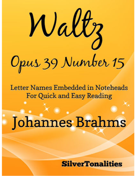 Waltz Opus 39 Number 15 Easy Piano Sheet Music