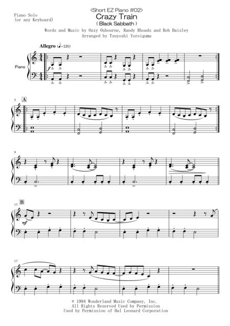 <Short EZ Piano #02> Crazy Train ( Black Sabbath )