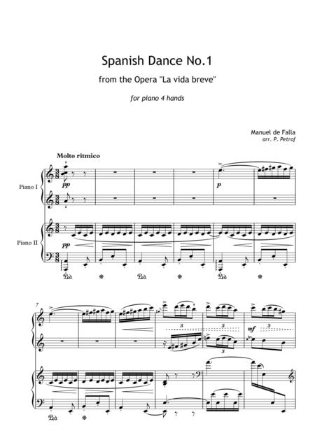Manuel de Falla - Spanish Dance No.1 from the Opera ''La vida breve'' for piano 4 hands