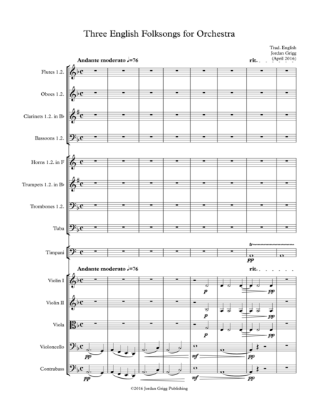 Three English Folksongs for Orchestra