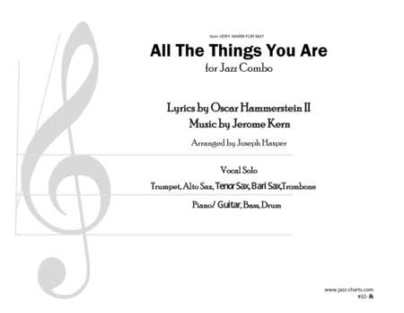 All The Things You Are (Vocal with Trumpet, Alto Sax, Tenor Sax, Baritone Sax, Trombone, and Rhythm Section)
