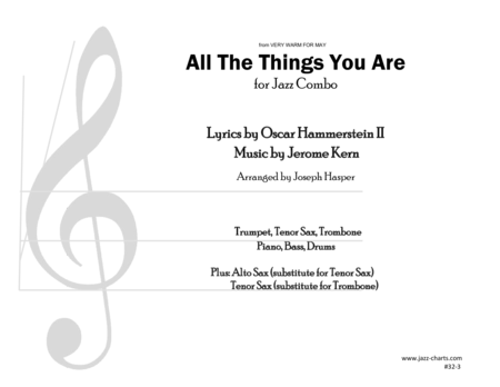 All The Things You Are (Trumpet, Tenor Sax, Trombone, and Rhythm Section)