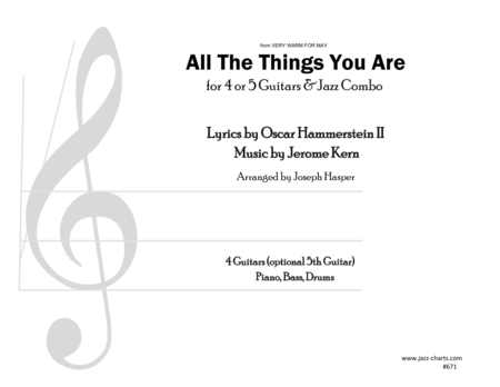 All The Things You Are (4 Guitars and Rhythm Section)