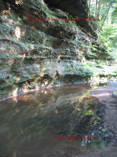 Skipping Shale Stones In A Brook