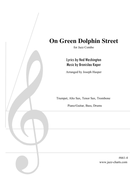 On Green Dolphin Street (Trumpet, Alto Sax, Tenor Sax, Trombone, and Rhythm Section)