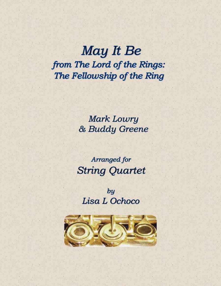 May It Be for String Quartet (2 Vln & 2 Vla)