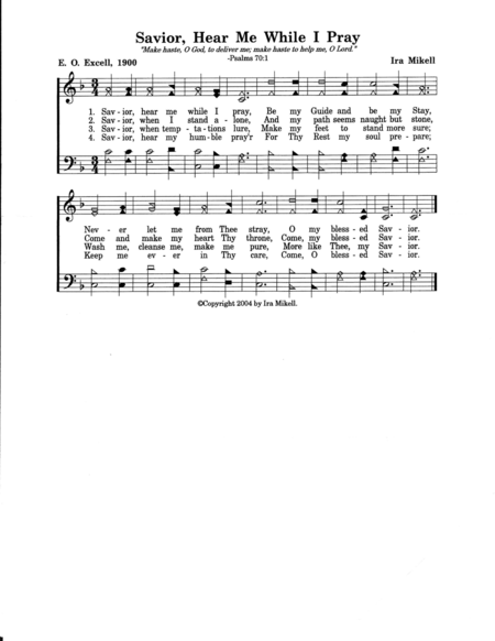 Savior, Hear Me While I Pray