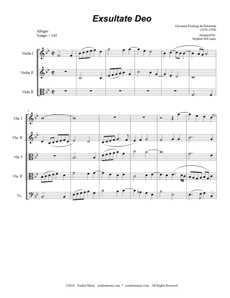 Exsultate Deo (for String Quintet)