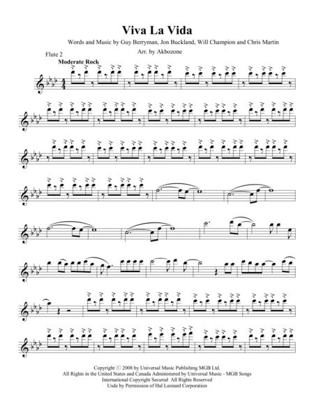 Viva La Vida - Flute 2 part
