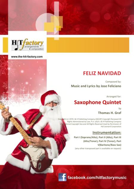 Feliz Navidad - Christmas Classic - Saxophone Quintet