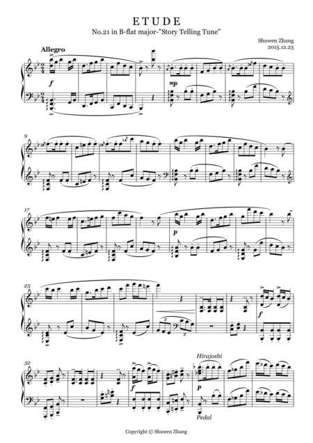 24 Etudes-No.21 in B-flat major-