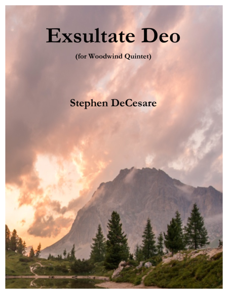 Exsultate Deo (for Woodwind Quintet)