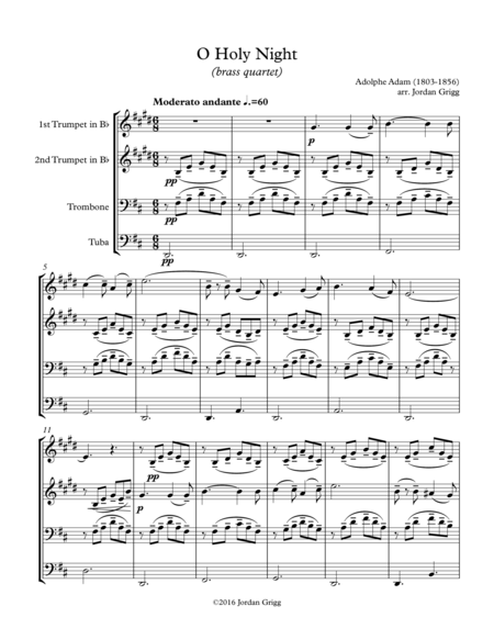 O Holy Night (brass quartet)