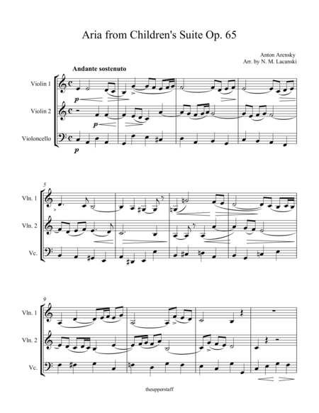 Aria from Children's Suite Op. 65