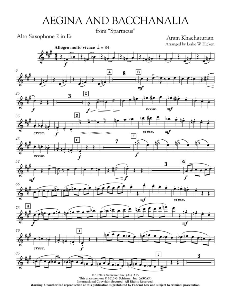 Aegina and Bacchanalia (from Spartacus) - Eb Alto Saxophone 2