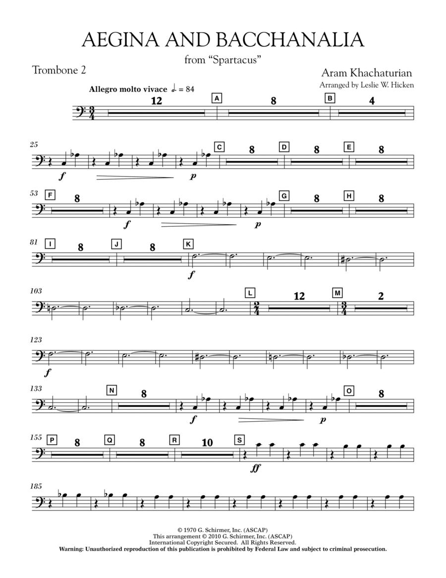 Aegina and Bacchanalia (from Spartacus) - Trombone 2