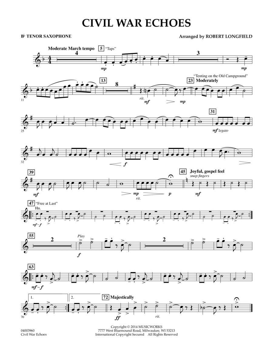 Civil War Echoes - Bb Tenor Saxophone