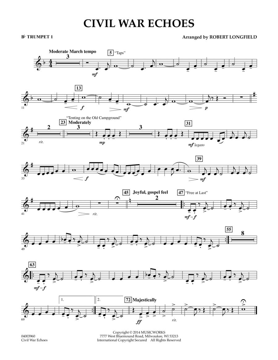 Civil War Echoes - Bb Trumpet 1