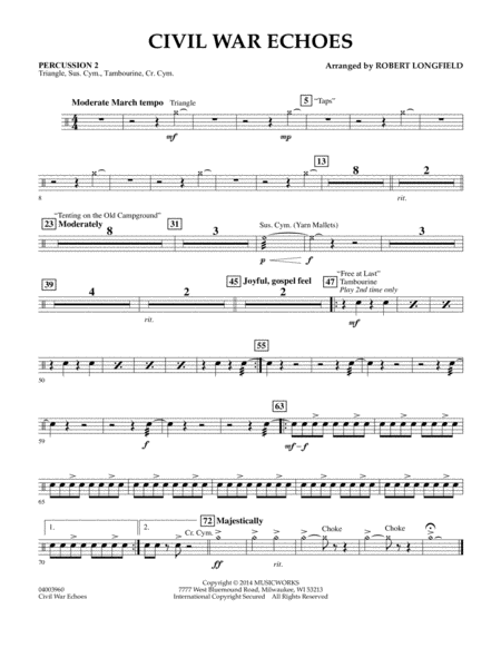 Civil War Echoes - Percussion 2