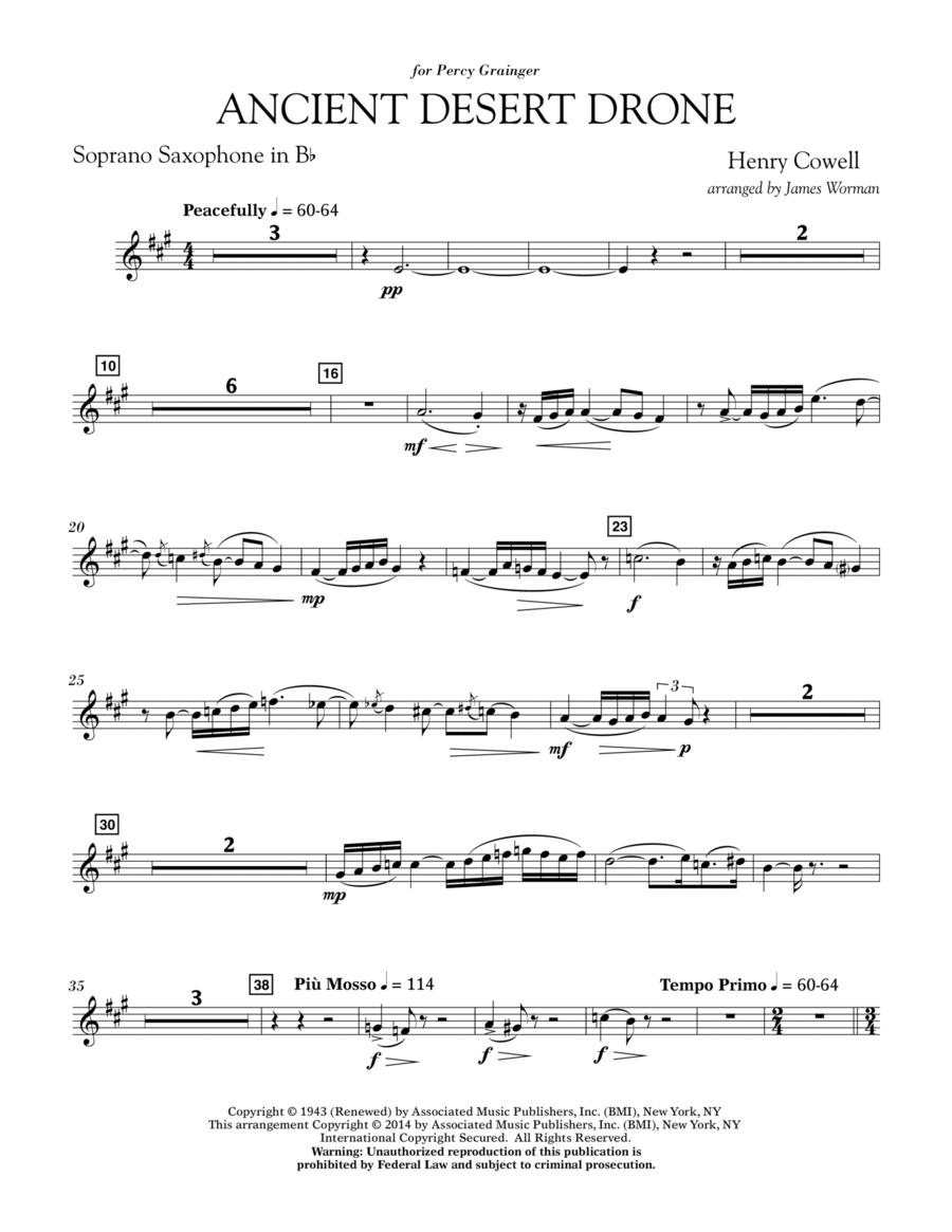 Ancient Desert Drone - Bb Soprano Sax