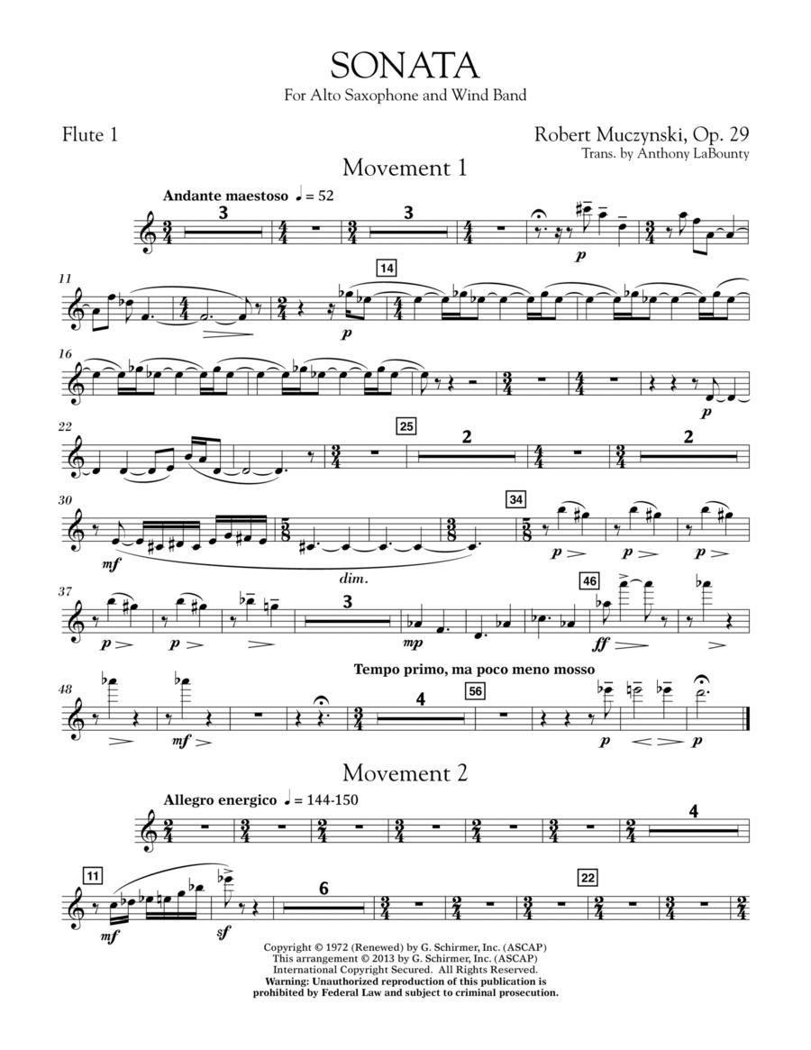 Sonata for Alto Saxophone, Op. 29 - Flute 1