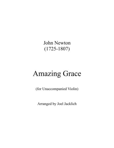 Amazing Grace for Unaccompanied Violin