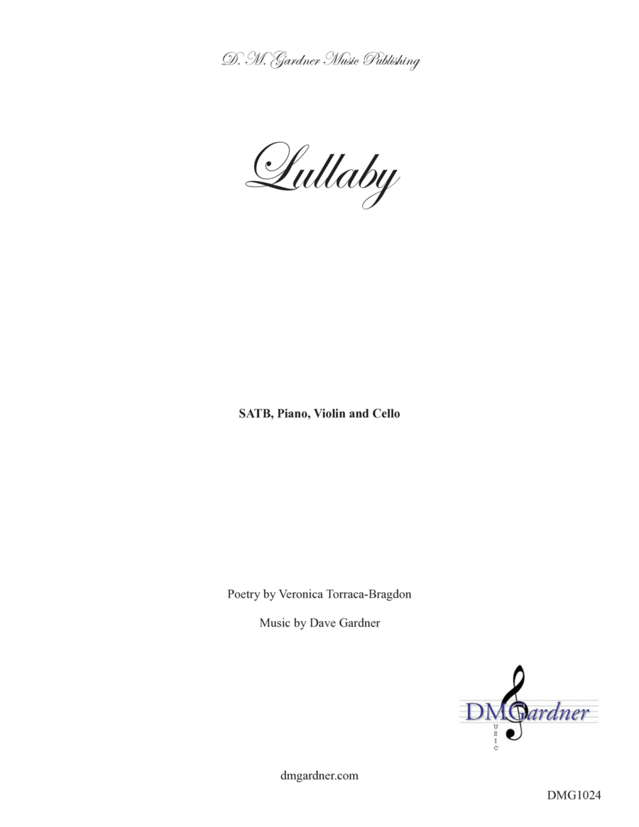 Lullaby (SATB, Piano, Violin and Cello)