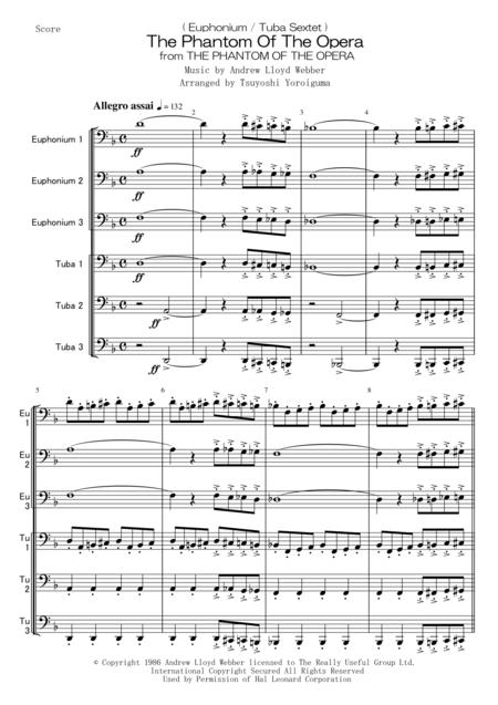 ( Euphonium / Tuba Sextet ) The Phantom Of The Opera