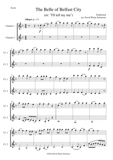 6 duos for clarinets