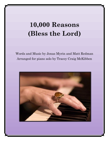 10,000 Reasons (Bless the Lord) for Piano Solo