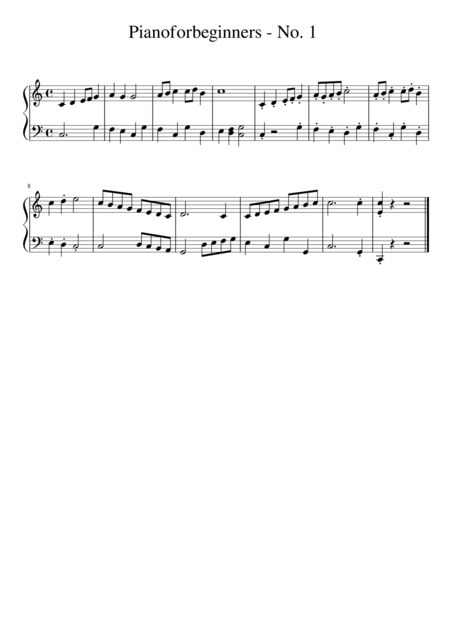 Gavotte - a easy piece for piano