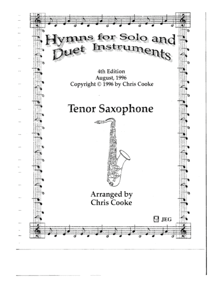 Hymns for Solo and Duet Instruments Tenor Saxophone