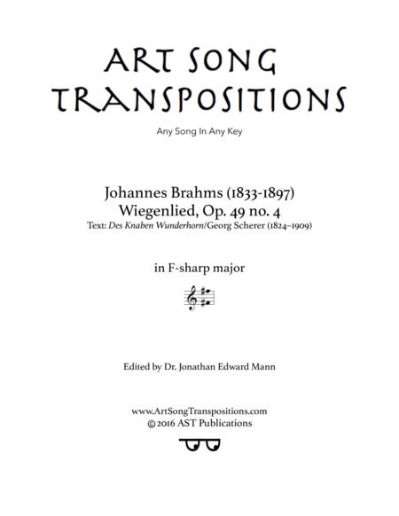 Wiegenlied, Op. 49 no. 4 (F-sharp major)