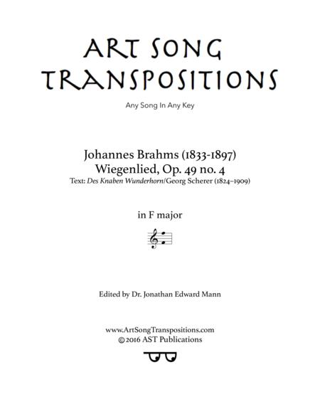 Wiegenlied, Op. 49 no. 4 (F major)