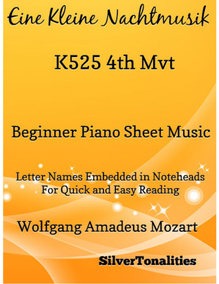 Eine Kleine Nachtmusik 4th Movement Beginner Piano Sheet Music