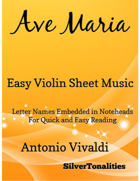Ave Maria Easy Violin Sheet Music
