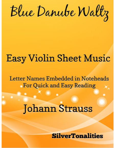 Blue Danube Waltz Easy Violin Sheet Music