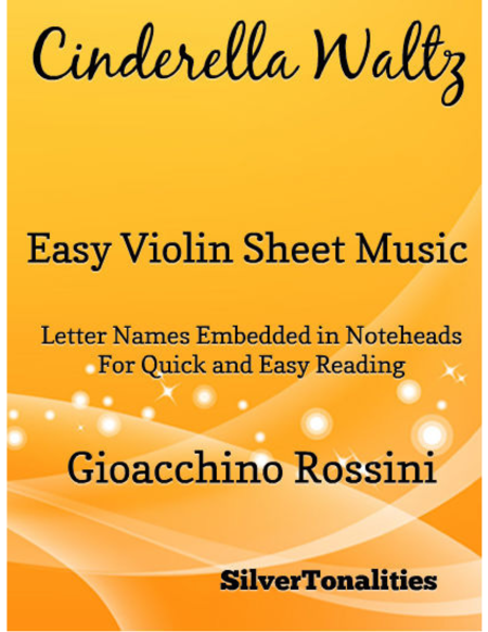 Cinderella Waltz Easy Violin Sheet Music
