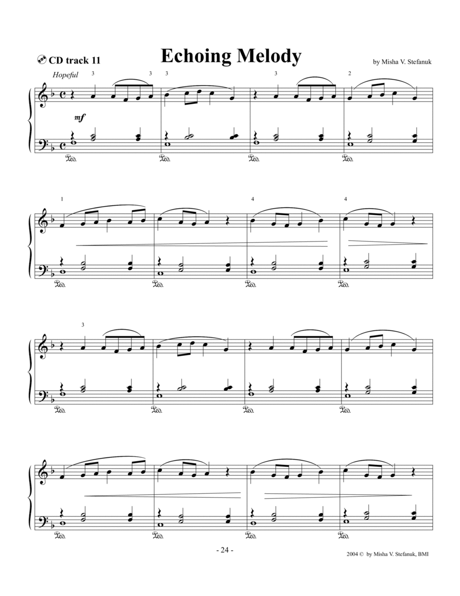 Echoing Melody. easy Romantic