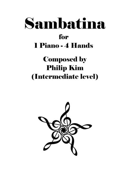 Sambatina, Original composition for piano duet (Intermediate level) by Philip Kim