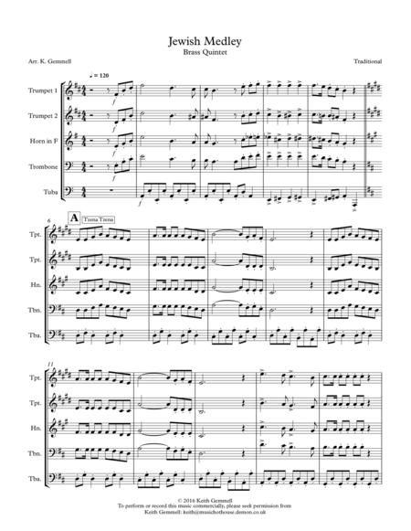 Jewish Medley: Brass Quintet