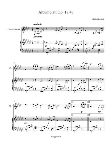Albumblatt Op. 18 #3