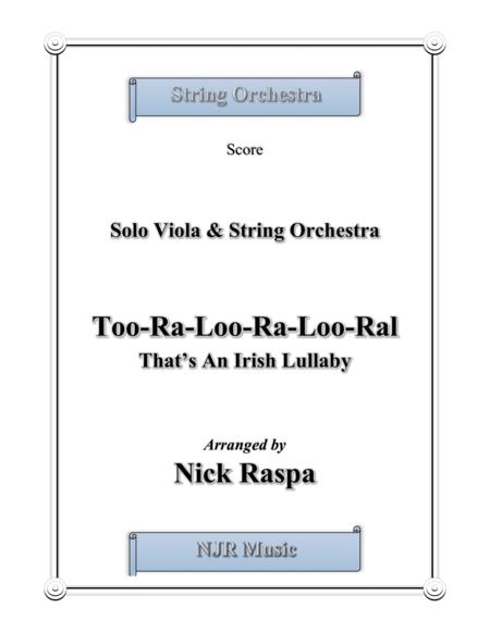 Too-ra-loo-ra-loo-ral, That's an Irish Lullaby - Score