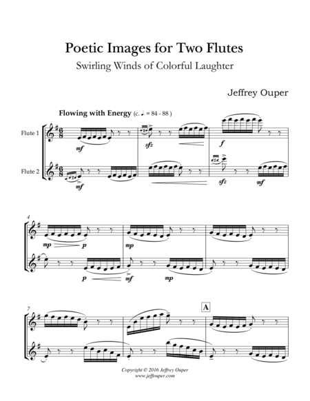 Poetic Images for Two Flutes