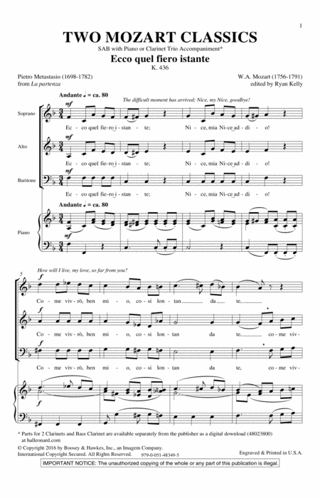 Two Mozart Classics
