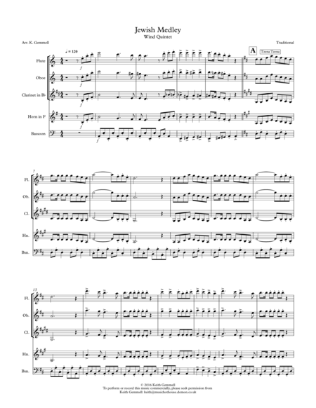 Jewish Medley: Wind Quintet